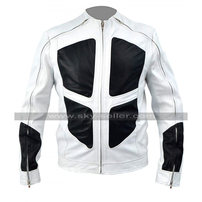 Deadpool 2 Shatterstar (Lewis Tan) White Leather Jacket