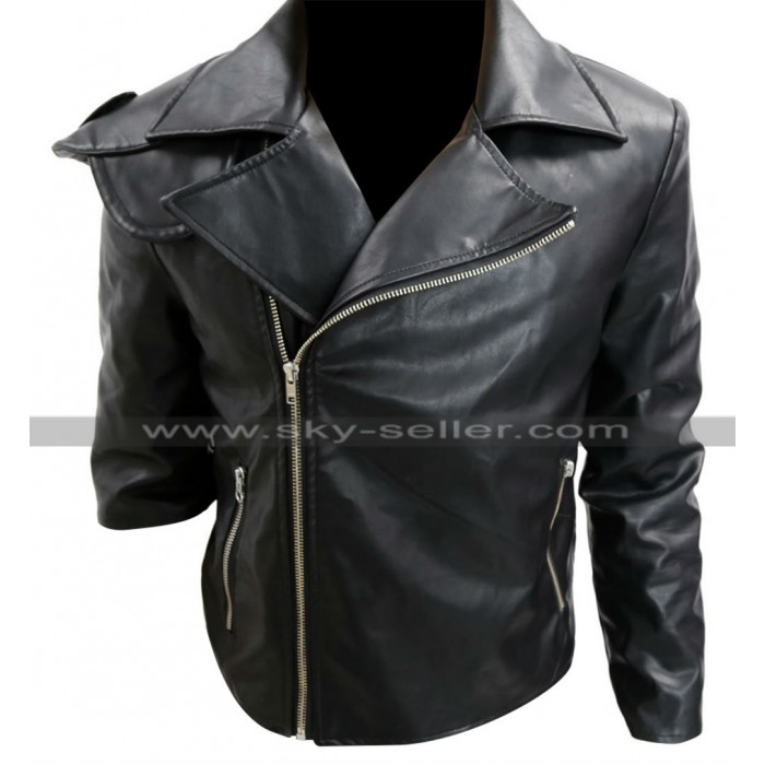 Mad Max Rockatansky Mel Gibson Warrior Black Leather Jacket