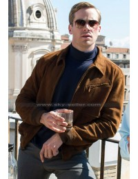 Armie Hammer Man from U.N.C.L.E ILLya Kuryakin Brown Jacket