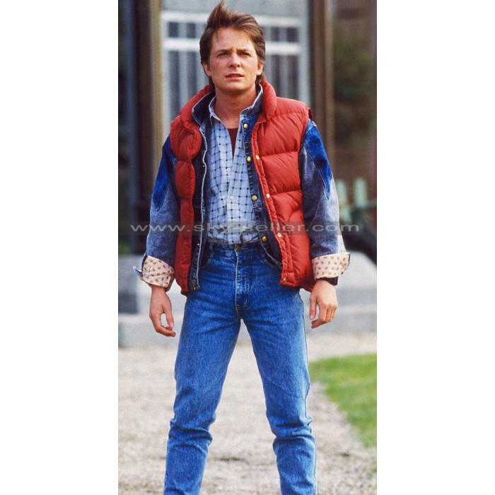 Marty McFly Back to the Future Bomber Vest