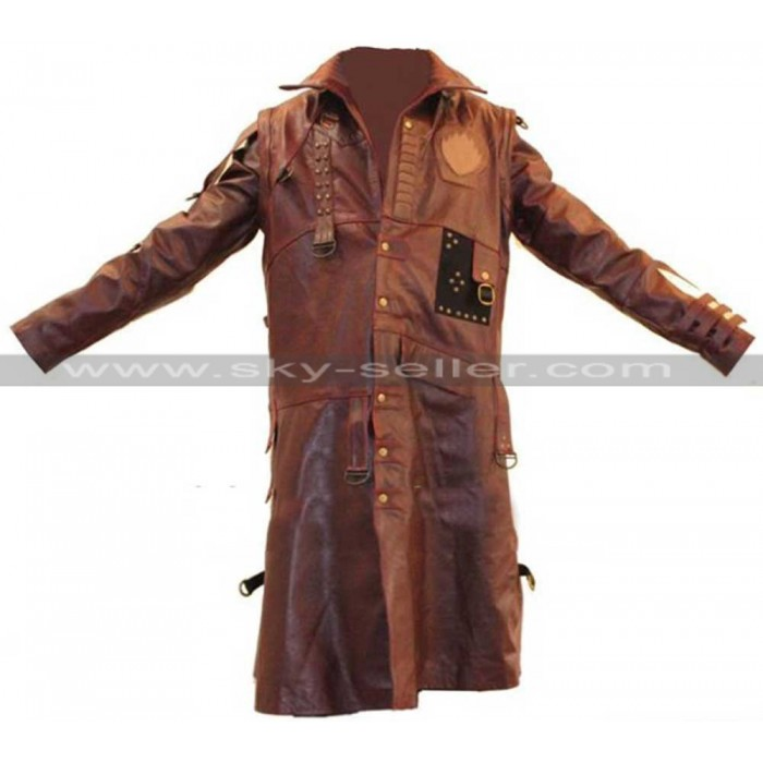 Michael Rooker Guardians of the Galaxy 2 Yondu Brown Leather Coat