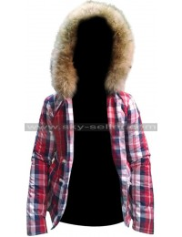 Manchester by the Sea Randi Hooded Plaid Jacket
