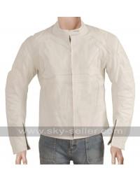 Tom Cruise Oblivion White Motorcycle Jacket