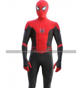 Spider Man Far From Home Tom Holland Peter Costume Leather Jacket