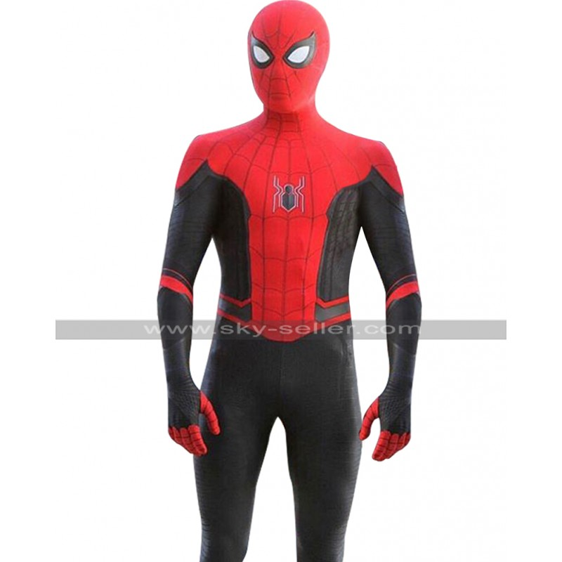 311311497 Spider Man Far From Home Tom Holland Peter Costume Leather Jacket