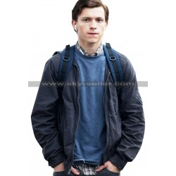 Tom Holland Spiderman Homecoming Grey Jacket