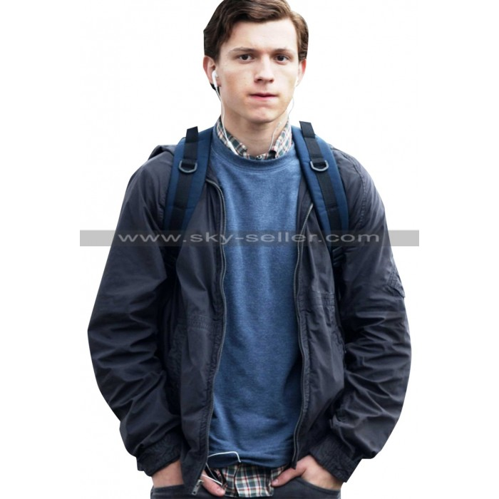 Tom Holland Spiderman Homecoming Grey Jacket