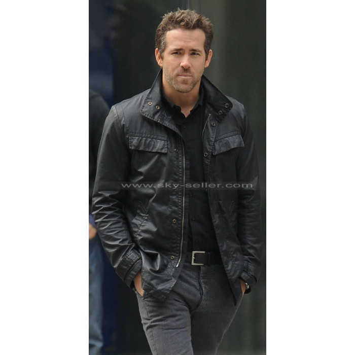 R.I.P.D Sheriff Nick Walker (Ryan Reynolds) Black Leather Jacket