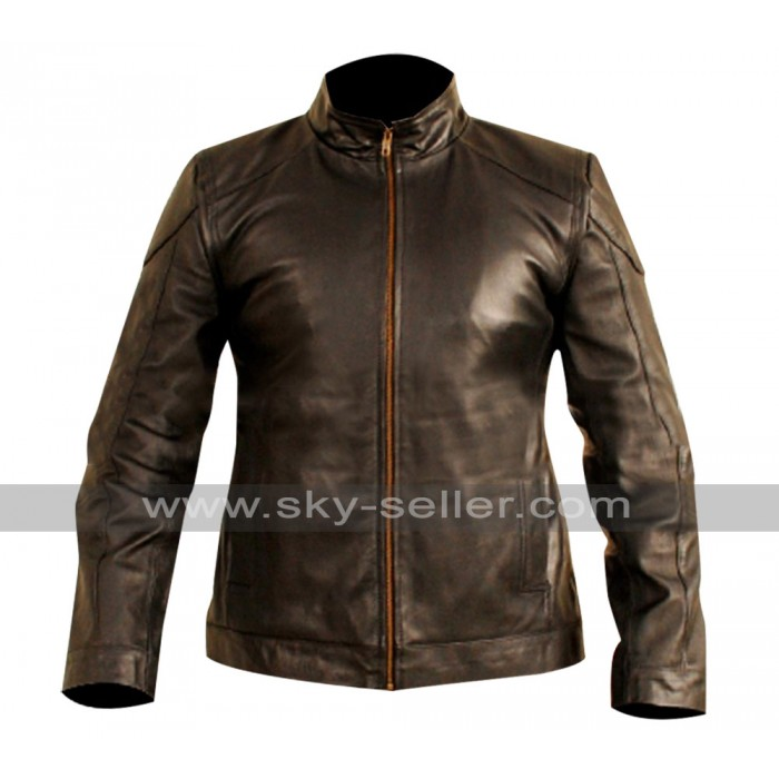Bruce Willis Red 2 Frank Moses Black Leather Jacket