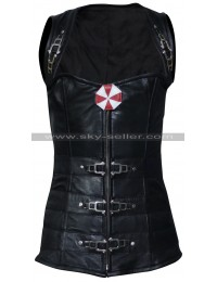Resident Evil Retribution Milla Jovovich Costume Leather Vest