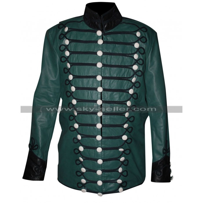 Sharpe's Rifles Sean Bean Green Military Leather Jacket