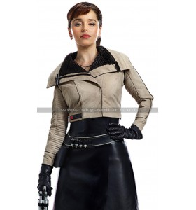Solo A Star Wars Story Qira (Emilia Clarke) Fur Shearling Leather Jacket