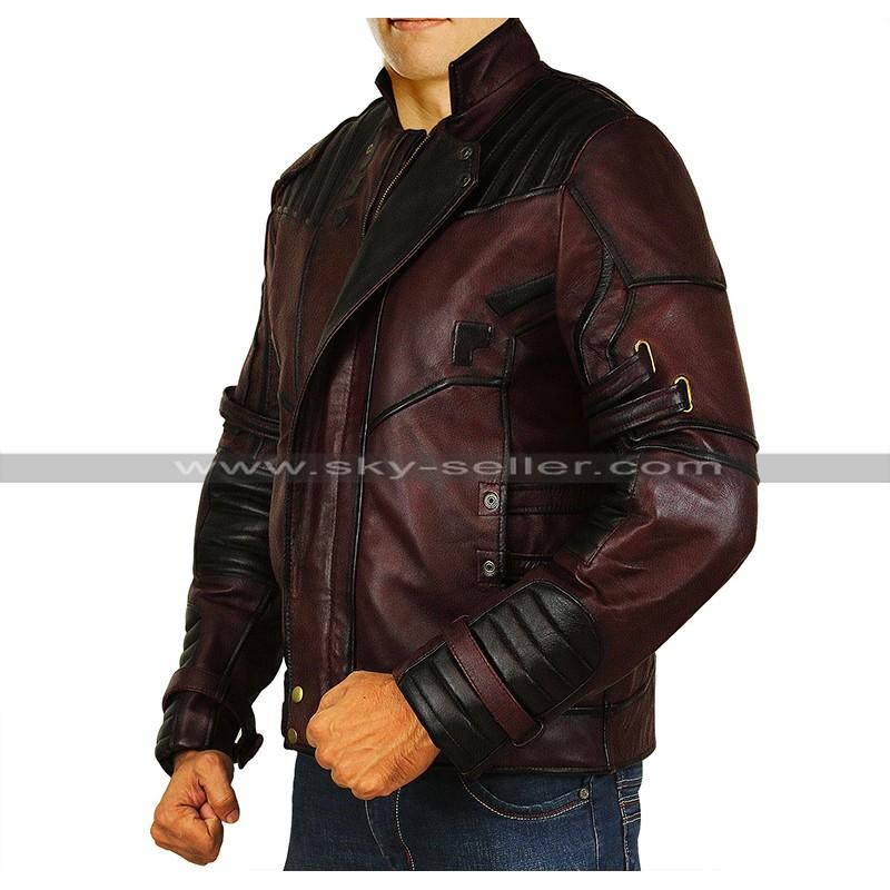 a7aa94f02 Avengers Infinity War Star Lord (Chris Pratt) Leather Costume Jacket