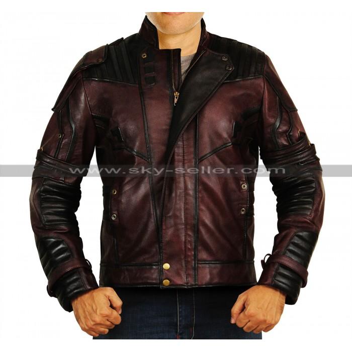 Avengers Infinity War Star Lord (Chris Pratt) Leather Costume Jacket