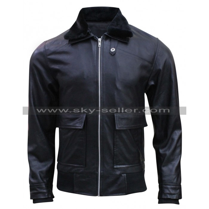 Star Trek Beyond Simon Pegg (Scotty) Fur Collar Jacket