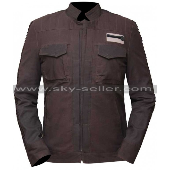 Star Wars Rogue One Captain Cassian Andor Brown Jacket