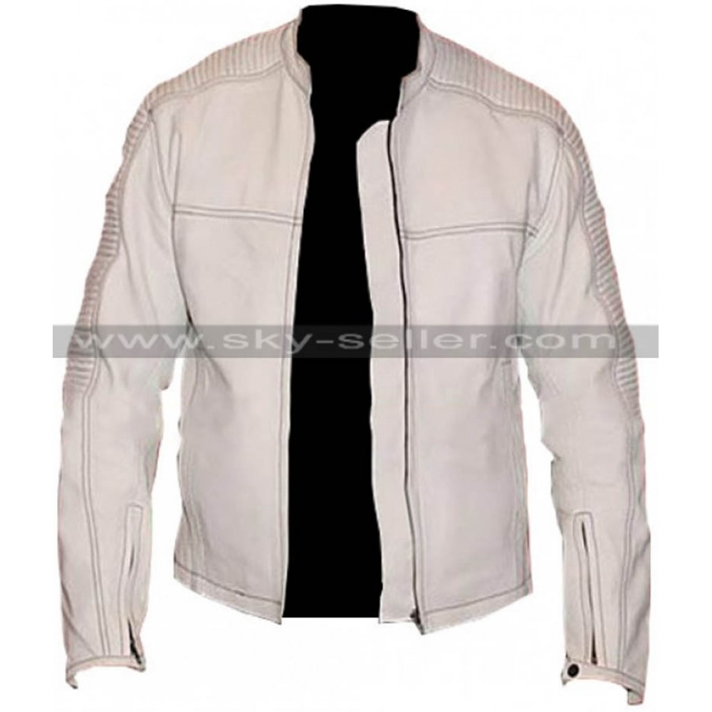 Star Wars Stormtrooper Biker Quilted Leather Jacket