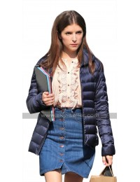 A Simple Favor Stephanie Smothers (Anna Kendrick) Blue Quilted Satin Jacket