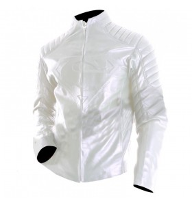 Smallville Superman White Leather Jacket