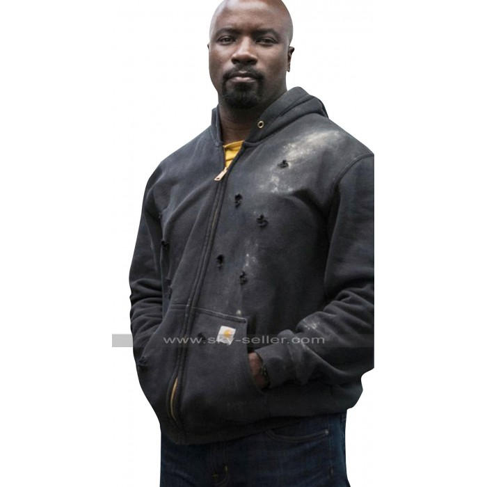 Luke Cage Mike Colter The Defenders Hooded Cotton Jacket