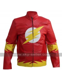 The Flash Bartholomew Henry Allen Red Leather Jacket