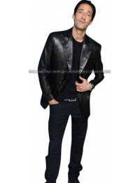 Adrien Brody Third Person Scott Leather Blazer