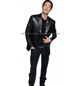 Adrien Brody Third Person Scott Leather Blazer