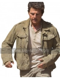 The Mummy Tom Cruise Nick Morton Military Green Cotton Jacket