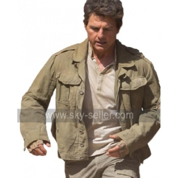 The Mummy Tom Cruise Nick Morton Military Green Cotton Jacket