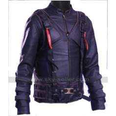 Tom Hardy Bane Dark Knight Rises Black Leather Costume Jacket