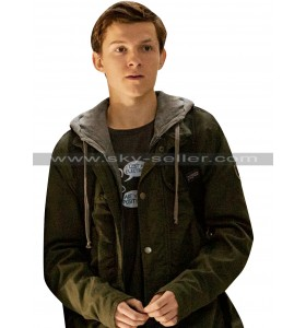 Spider-Man Homecoming Peter Parker Green Cotton Jacket