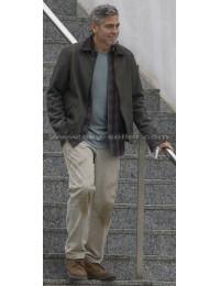 Tomorrowland George Clooney (Frank Walker) Leather Jacket