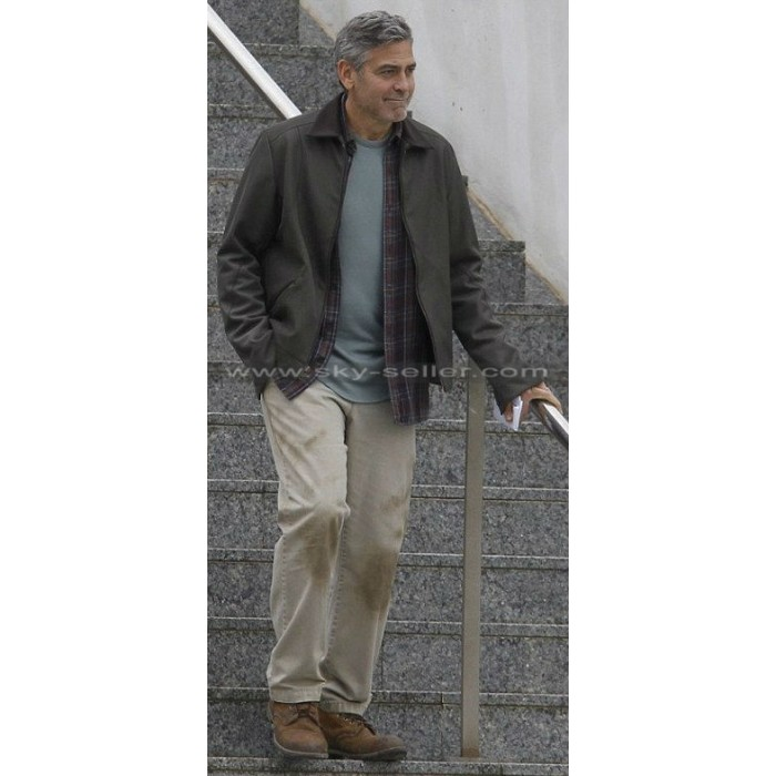 Tomorrowland George Clooney (Frank Walker) Leather Jacket
