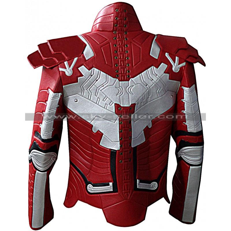Iron Man 2 Mark V Motorcycle Suit Leather Jacket
