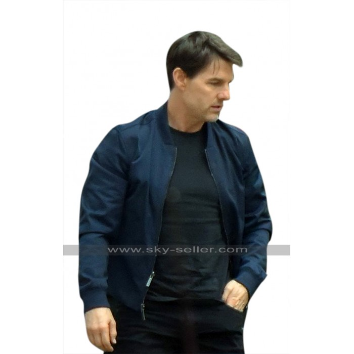 Mission Impossible 6 Fallout Tom Cruise (Ethan Hunt) Bomber Leather Jacket