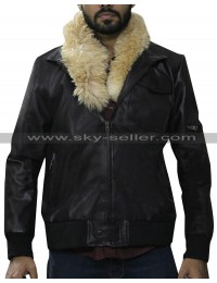 Spider-Man Homecoming Vulture Fur Collar Bomber Leather Jacket