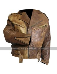 Wesley Snipes Passenger 57 John Cutter Distressed  Jacket