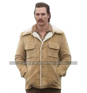 White Boy Rick Matthew McConaughey Brown Fur Collar Corduroy Jacket
