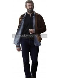 Logan X-Men Wolverine 3 Hugh Jackman Brown Jacket