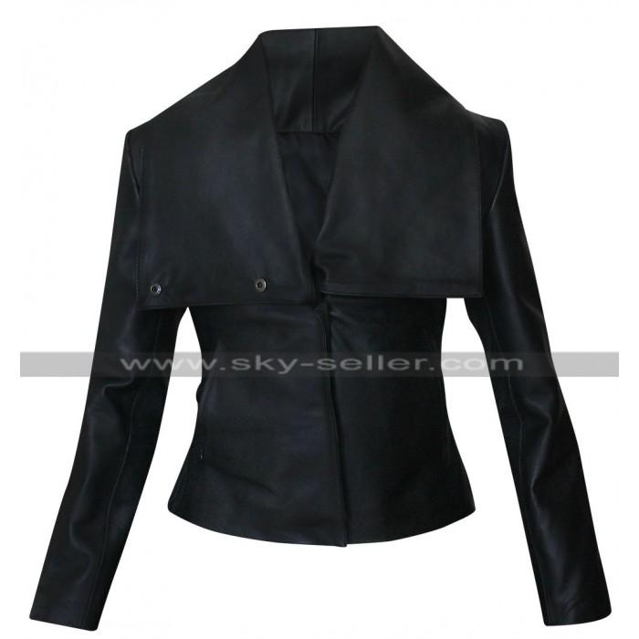 Zoe Saldana Colombiana Black Leather Jacket
