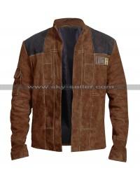 A Star Wars Story Han Solo Alden Ehrenreich Suede Leather Jacket