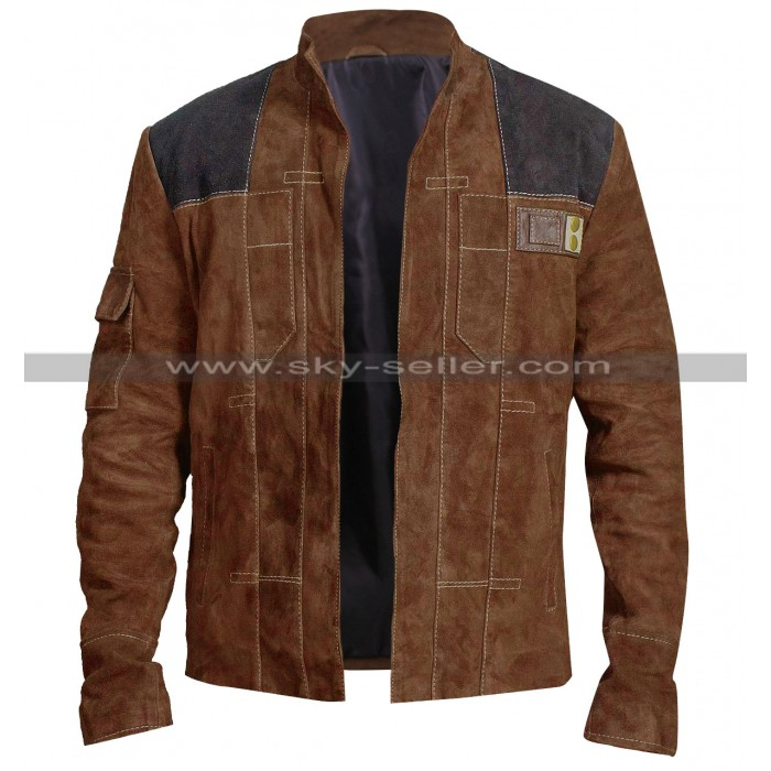 A Star Wars Story Han Solo Alden Ehrenreich Suede Leather Jacket