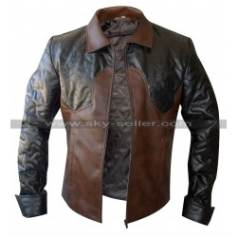 Criss Angel Brown Quilted Biker Leather Jacket