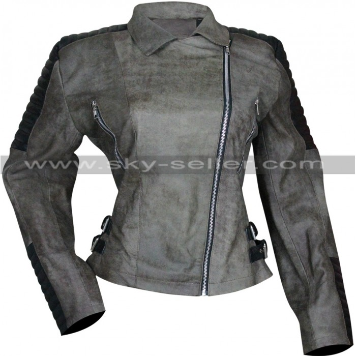 Rosita Espinosa Walking Dead S5 Christian Serratos Quilted Jacket