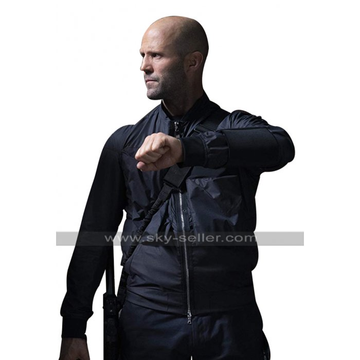 Fast & Furious Presents Hobbs & Shaw Jason Statham Bomber Parachute Black Jacket