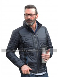 Beirut Premiere Jon Hamm (Mason Skiles) Slimfit Black Parachute Jacket