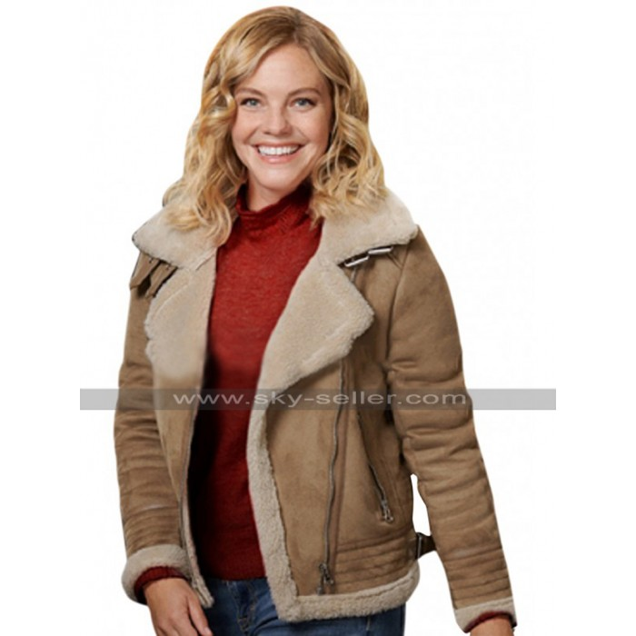 Eloise Mumford A Veterans Christmas Grace Fur Shearling Suede Leather Jacket