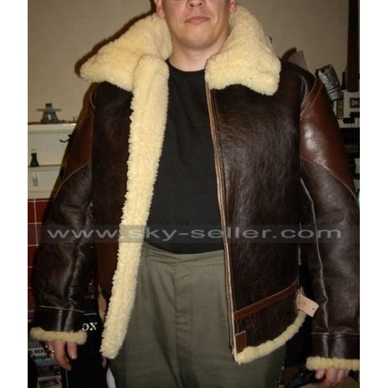 0afa45382 John Connor Terminator Salvation Alpha Vintage B3 Sheepskin Jacket