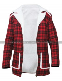 Ryan Reynolds Deadpool Shearling Red Jacket