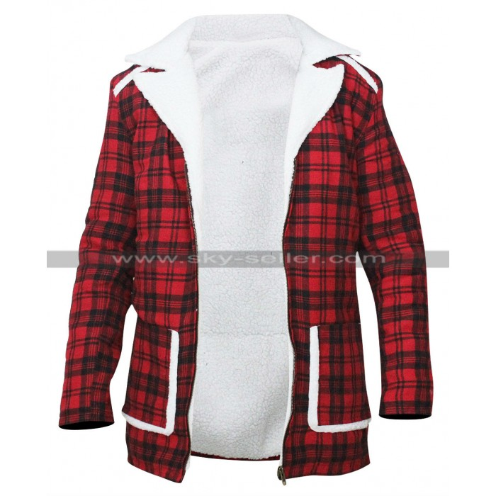 Ryan Reynolds Deadpool Shearling Red Jacket
